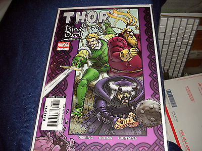 Thor Blood Oath #5 Limited Series 2005 ~ Signed Michael Avon Oeming C.o.a.
