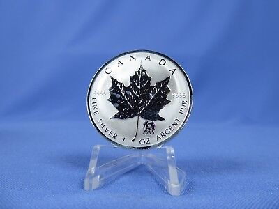 Kanada 5 Dollars 2004 , Maple Leaf / Privy Gemini ,  Silber *St* (15177)