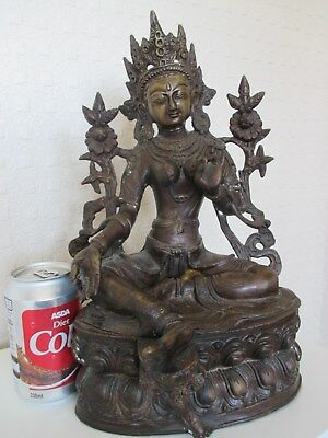 Stunning Large Indian Eastern Asian Bronze Figure of a Goddess - Deity (34cm)