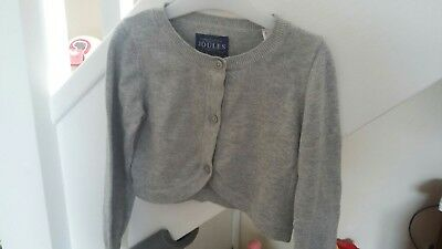 Baby Girl Joules Cardigan grey silver glitter long sleeves 18-24 months VGC