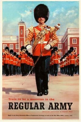 Vintage Life Guards British Army Recruitment Poster Print A3//A4