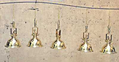 Nautical Marine New Wiska Hanging Brass Light With Chain Lot Of 8 Pcs