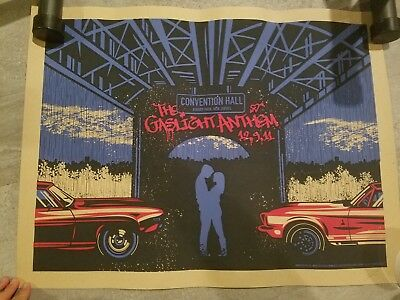 Gaslight Anthem 2011 Convention Hall Poster