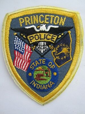 Polizei Abzeichen / Police Patch - USA - Staat Indiana - City of Princeton