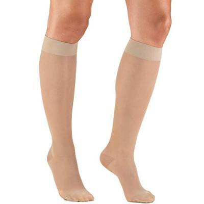 Truform Women's 15-20 mmHg Sheer Knee High Compression Stockings Nude Small NEW