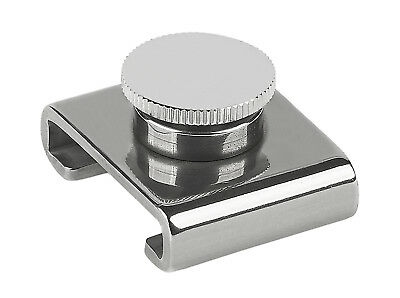 "Schaefer Stainless 1-1/4"" T-Track Slider - Adj. Stop/ Screw Pin 74-51"