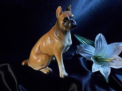 "Boxer Dog Figurine Collector Dog Figurine 6"" H"