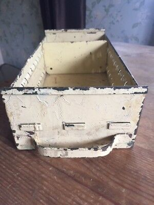 Vintage industrial metal drawer engineers drawer cream colour warehouse style