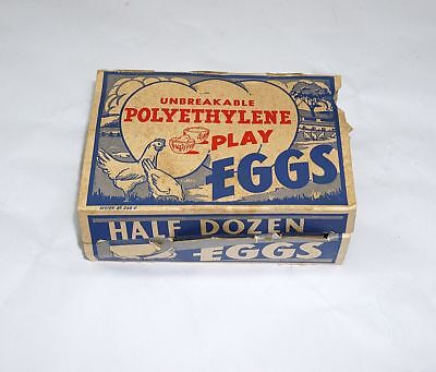 Box Of Vintage Polyrthylene Easter Play Egg's With Little Chicks Inside