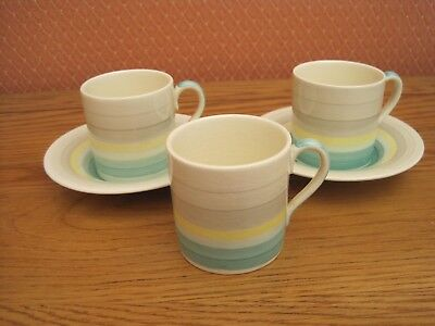 Susie Cooper Wedding Band Coffee can/saucer,
