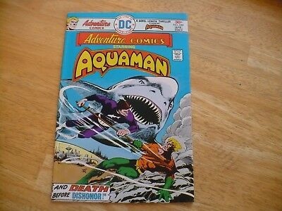 Adventure Comics #444 Featuring Aquaman (8.5 Vf+) Dc 4/76 -Hi Grade-Ocean Master
