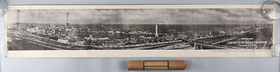 Vintage Rare 1933 Panorama Chicago World's Fair Lithograph Century of Progress