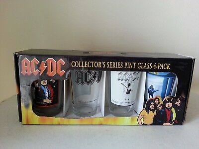Set of 4 Collector's Series Pint Glasses - AC/DC
