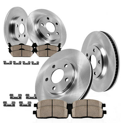 Front+Rear Brake Rotors & Ceramic Pads For Buick Encore Chevy Trax