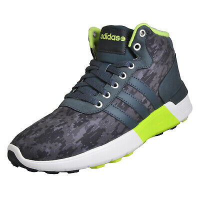 ef04f15814ae6f Adidas Lite Racer Mid Mens Athletic Fashion Gym Trainers Sneakers Grey