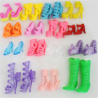 10pairs High Heels  Shoes Sandals Doll Shoes For  Dolls Gift Toys UK