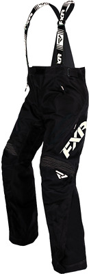 FXR MENS X-System Black/White BIBS WARM WINTER SNOWMOBILE SNOW PANTS - 2XL - New