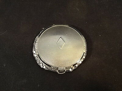 Old Vtg May Fair By Evens Make-up Compact Decorative Purse Combo Powder