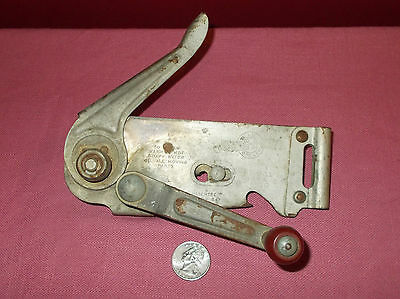 Vintage 1947 RED WOOD HANDLE SWING A WAY CAN OPENER *