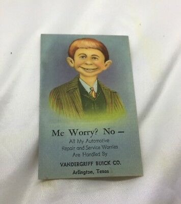1950's ALFRED E NEUMAN Ad  Postcard SALESMANS SAMPLE NATIONWIDE ADVERTISING