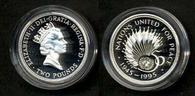 UK UN 50 anniversary coin. Nice silver proof coin