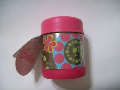 Barbie Thermos Funtainer 10 oz Food Jar NEW by Thermos!!