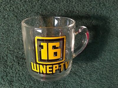 WNEP TV Channel 16 Wilkes Barre Scranton Television Glass Glass Coffee Mug Cup