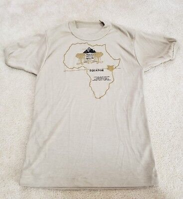 Vintage Mount Kenya Safari Club Tshirt Africa 1970S Small