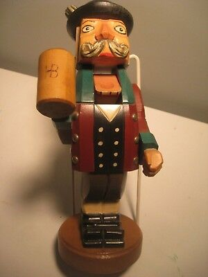 German Nutcracker: 12 inches high with HB log on stein