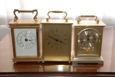 Job Lot Of Vintage Carriage Clocks, Spares And Repairs