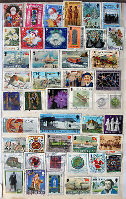 Great Collection of Different Used Isle Of Man Stamps.