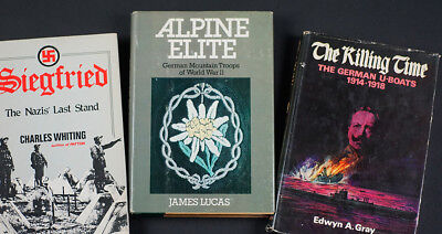 Ww2 German Ref. Books (3): 'alpine Elite' + 'the Killing Time' + 'siegfried'