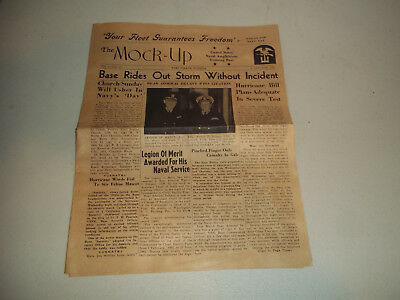 Wwii Ww2 Us The Mock Up Newspaper Fort Pierce Florida 1944