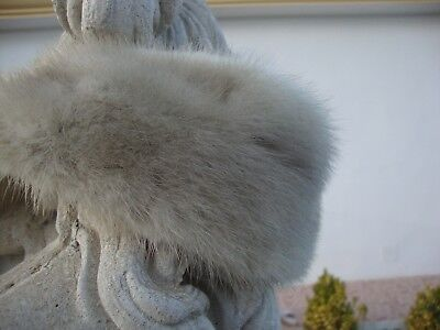 Real Grey Pearl Mink Fur Scarf...Re modelled from Vintage fur...Soft and Supple