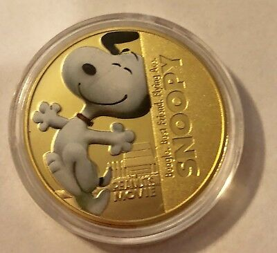 Snoopy-Peanuts Themed New Zealand Coin-New In Plastic Protector