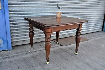 Antique Mahogany Draw Leaf Dining Table.