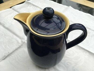Denby Cottage Blue Coffee Pot - Vintage Pottery