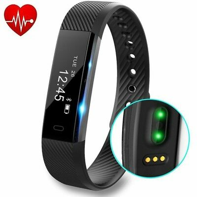 Fitness Activity Tracker Exercise Watch with Heart Rate Monitor Pedometer