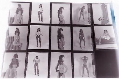 Lot 10 - 14 Negatives from 1980's Nude Photo Shoots - Female Pin up Photography