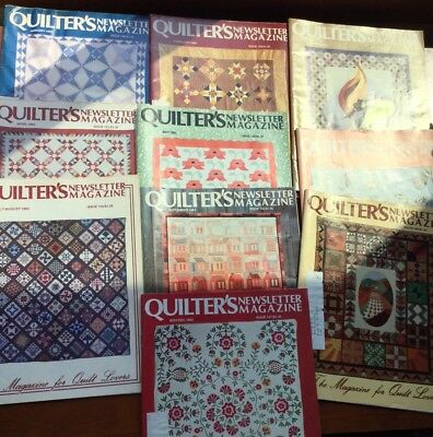 Lot 10 Quilter's Newsletter Magazine Complete Year 1983 Issue #148 - #156