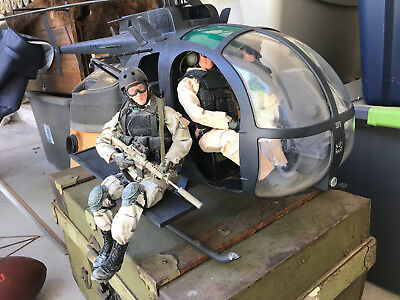 1/6 21st Century Toys AH-6 Little Bird Helicopter with Metal skids and Lifts