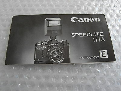 instructions Canon 177 A  Speedlite   english   shipping europe 1,50 Euro