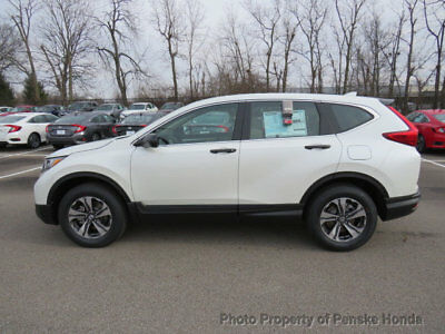 Honda CR-V LX AWD LX AWD New 4 dr SUV CVT Gasoline 2.4L 4 Cyl White Diamond Pearl