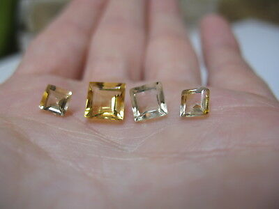 Natural Citrine gemstone lot x 4 stones