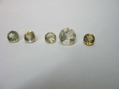 Natural Citrine gemstone lot x 5 stones