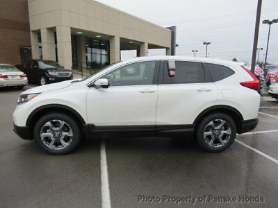 Honda CR-V EX AWD EX AWD New 4 dr SUV CVT Gasoline 1.5L 4 Cyl White Diamond Pearl