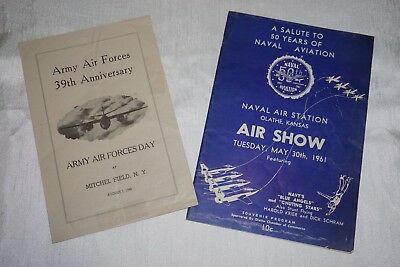 Blue Angels 1961 15th Anniversary Program Book Army Air Force Day 1946 Grumman