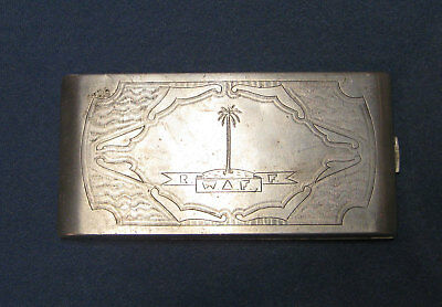 WWII ROYAL WEST AFRICAN FRONTIER FORCE 1944 Nigeria Cigarette Case Naked Lady