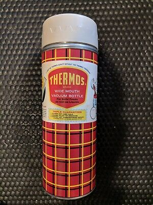 THERMOS brand Wide Mouth Vacuum Bottle N52-4T (still has original wrapper paper)