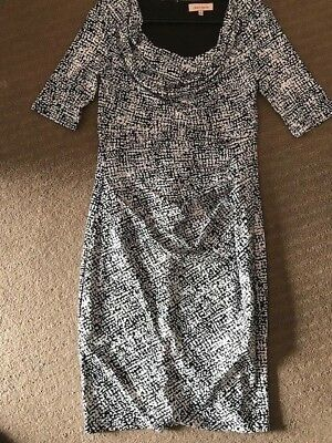 as new worn once Diana Ferrari bodycon dress with slimming technology: size 8
